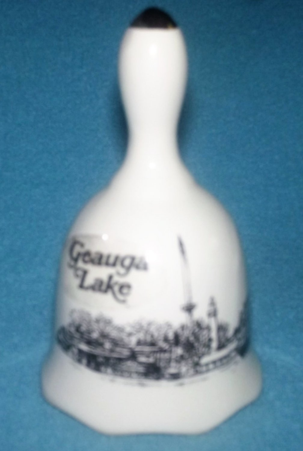 GEAUGA LAKE, OHIO Mini Souvenir BELL Made in Taiwan 1980's Vintage