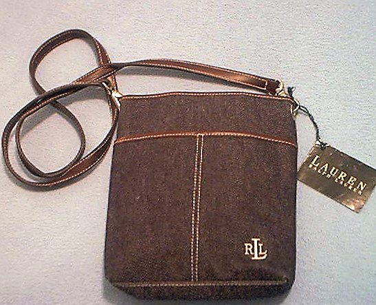 RALPH LAUREN~PURSE~HANDBAG~LAUREN~DENIM~NEW WITH TAG