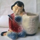 VINTAGE ROYAL COPLEY ORIENTAL CHINESE GIRL BY URN PLANTER