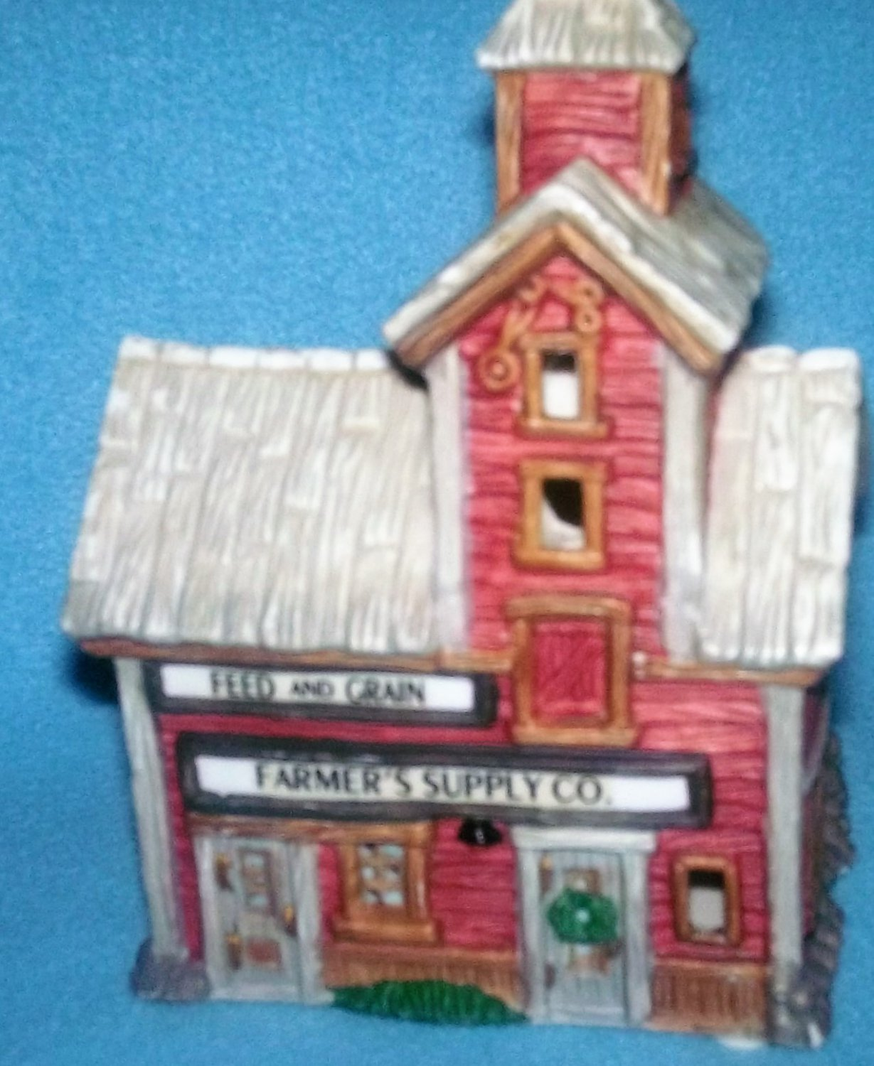 Vintage 1995 HOME TOWN AMERICA Christmas Village FARMER'S SUPPLY CO. Mini Building
