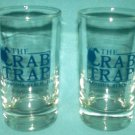 THE CRAB TRAP RESTAURANT Libbey Glass Set of Two FERNANDINA BEACH, FLORIDA Souvenir