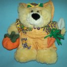 TEDDY BEAR Orange Pumpkin Harvest Sunflower Gardener PLUSH 1999 Joelson Industries CUTE