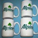 ALPINE CIGARETTES Mugs SET OF 4 Mountain Fresh PREMIUMS Philip Morris