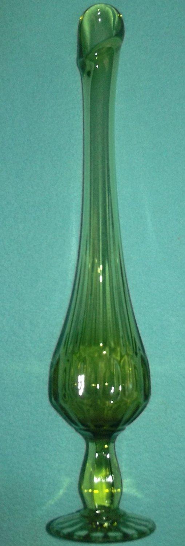 Fenton Glass Vase Green Garden View Landscape