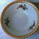 VINTAGE YAMATSU MOSS ROSE GOLD LUSTREWARE BOWL~JAPAN~7IN