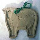 BROWN BAG COOKIE MOLD PRESS ~COW ~1986