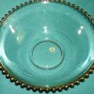 Vintage HEISEY DALZELL VIKING GLASS Gold Candlewick Large  SERVING BOWL Mid Century GORGEOUS