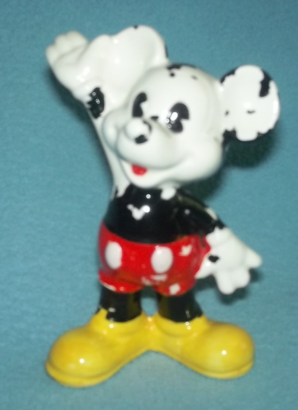 Vintage MICKEY MOUSE Figurine WALT DISNEY PRODUCTIONS Japan Pie Eyed