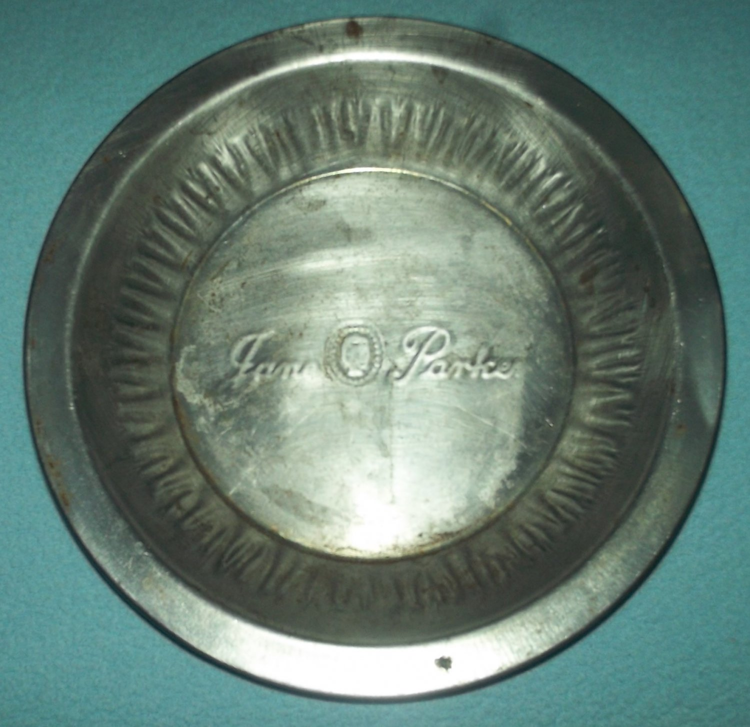 Vintage JANE PARKER A & P Pie Tin Plate Pan~Bakeware~Advertising~Metal~Great for Decor!