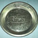 Vintage GIANT EAGLE SUPERMARKET Pie Tin Plate Pan~Bakeware~Advertising~Metal~Great for Decor!