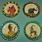 PENZO PENELOPE VINCENT Zimbabwe SMALL PLATES Hand-Painted 2001 AFRICA ANIMALS