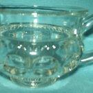 INDIANA GLASS Kings Crown Thumbprint CREAMER Glass Vintage