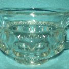 INDIANA GLASS Kings Crown Thumbprint SUGAR BOWL Glass Vintage