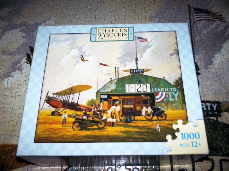 MB JIGSAW PUZZLE Charles Wysocki HERO WORSHIP 1000 pcs Airplane Nostalgia Mail