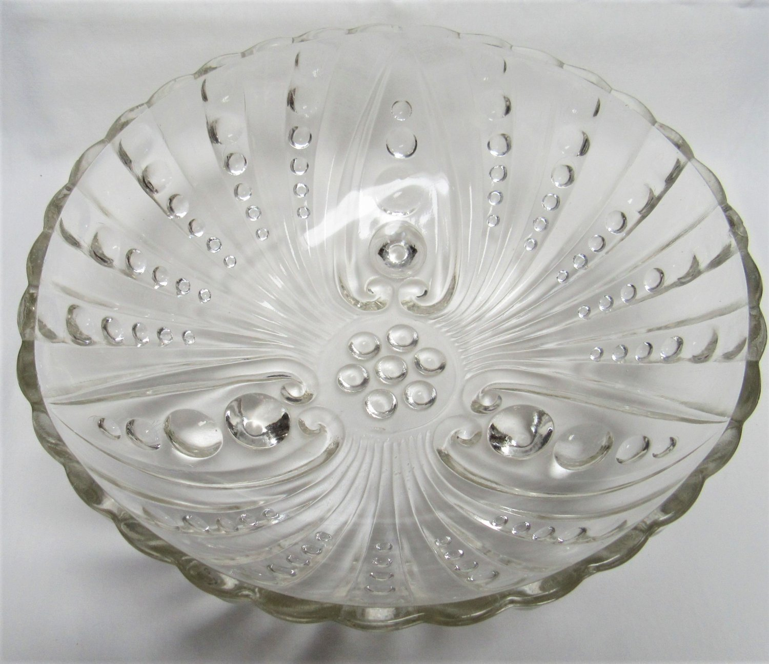 Vintage BOOPIE CANDLEWICK Style 3 FOOTED BOWL Clear Glass ANCHOR HOCKING