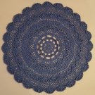 "Hand Crochet Textured Doily 11.75"" / 30cm (True Blue)"