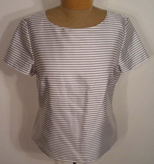 NEW TALBOTS womens SILK DRESS SHIRT TOP BLOUSE 6 NWT