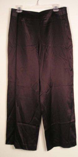 NEW $118 TALBOTS Womens Dress Pants Silk 10P 10 Petites NWT Dark Brown