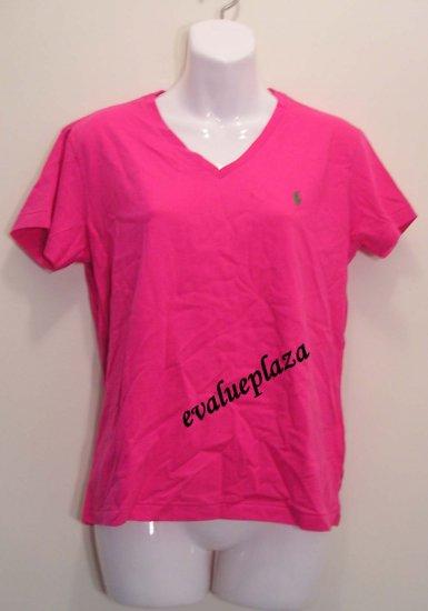 NEW POLO RALPH LAUREN SPORT Womens V Neck Cotton Shirt Top Blouse M Medium NWT