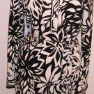 NEW $148 TALBOTS Womens Dress 8 Misses Black White NWT NR
