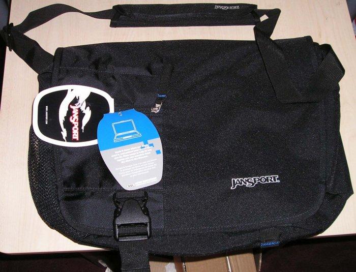 NEW JANSPORT Laptop Notebook Messenger Shoulder Bag Backpack Black NWT
