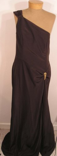 NEW $258 TALBOTS Womens Formal Wedding Dress Gown 10 NWT Dark Brown
