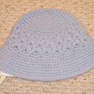 NEW LAUREN RALPH LAUREN womens hat cap NWT Hand crocheted Light Blue