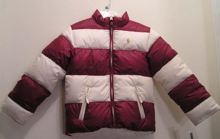 NEW RALPH LAUREN Girls Reversible Down Jacket Coat 4 4T NWT