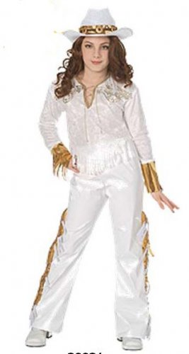 NEW Western Diva Halloween Costume S 4 6 Child Girls