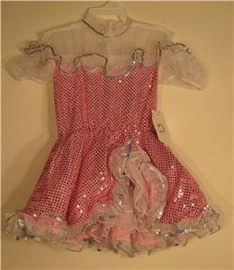 NEW Pink Can Can Girls Halloween Costume Large L Child