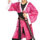 NEW Pink Samurai Halloween Costume S 4 6 Child Girls