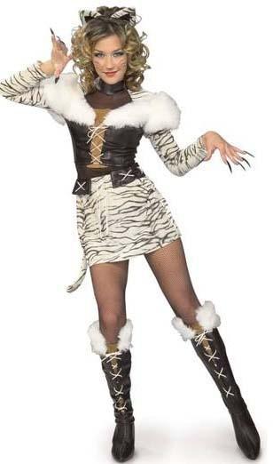 NEW SIBERIAN TIGRESS Halloween Costume NIP Teen Sexy