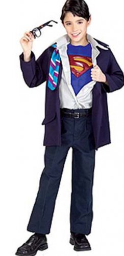 NEW Clark Kent Superman Halloween Costume L 12 14 Boys