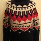 NEW RALPH LAUREN Womens Turtleneck Sweater M Hand Knit