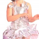 NEW Silver Sequin Flapper Halloween Costume XS / S Kids