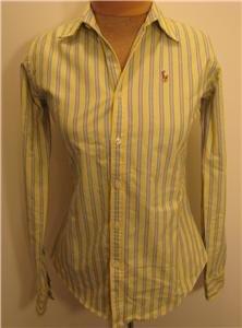 NEW RALPH LAUREN POLO Womens Slim Fit Shirt Top 2 NWT