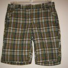 NEW J CREW JCREW Womens Plaid Shorts 0 NWT Cotton City Fit