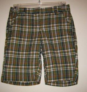 NEW J CREW JCREW Womens Plaid Shorts 0 NWT Cotton City Fit