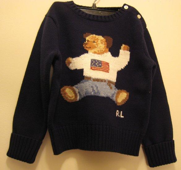 NEW POLO RALPH LAUREN Boys Bear Sweater 24M NWT Navy