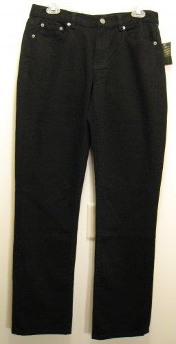 NEW RALPH LAUREN POLO Womens Jeans Pants 10 Modern Slim Black