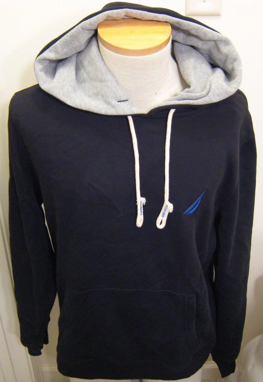 NEW NAUTICA Mens Hoodie Sweatshirt L Large Black NWT