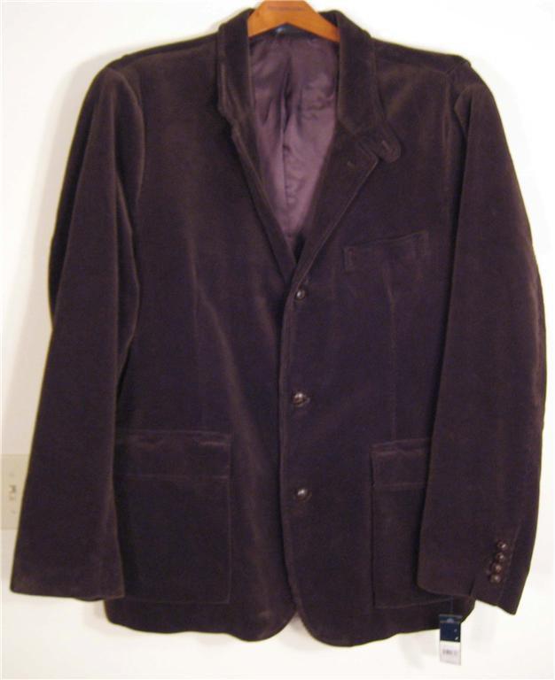 NEW POLO RALPH LAUREN Mens Corduroy  Sport Coat  Blazer Jacket L Large NWT Brown