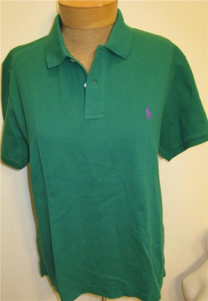 NEW RALPH LAUREN Womens Skinny Polo Shirt Top S NWT Small Green