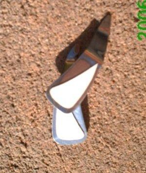 White leather *Zaro 2 design dangle earrings