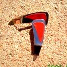Red leather *Zaro design dangle earrings
