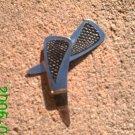 Black faux snakeskin stamped leather dangle earrings