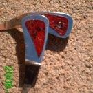 Red genuine snake skin *Zaro design dangle earrings
