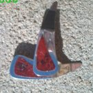 Red genuine snake skin *Zaro 2 design dangle earrings