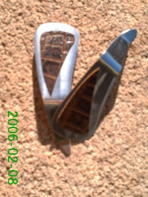 Brown crocodile stamped leather clip-on earrings