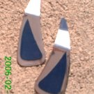 Navy leather *Zaro 2 design dangle earrings